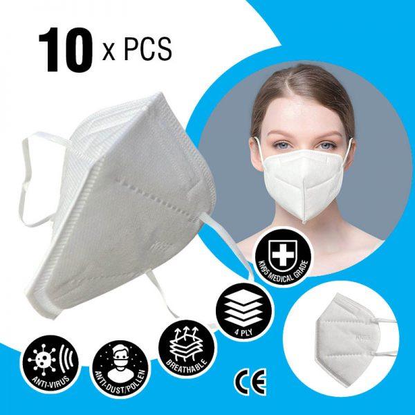 kn95 face mask 4 layers 10 x pcs